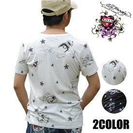 ED HARDY エドハーディー tシャツ メンズ M02MLT549 ブラック ホワイト S-L 半袖 Multi クモ