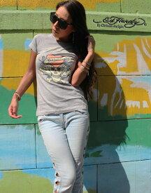 エドハーディー Tシャツ Tシャツ レディース ED HARDY ラブキル スカル W02BSC052 エド・ハーディー edhardy タトゥー