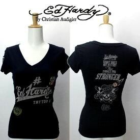 Ed Hardy 記念モデル エドハーディー Tシャツ レディース LKS ラブキル スカル ブラック A1ZSDCLK W02ABPP052 エド・ハーディー edhardy タトゥー