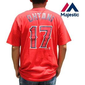 マジェスティック Tシャツ 半袖 メンズ Tee Majestic Athletic 半袖t 大谷翔平 エンゼルス 背番号17 MM08-ANG-0099