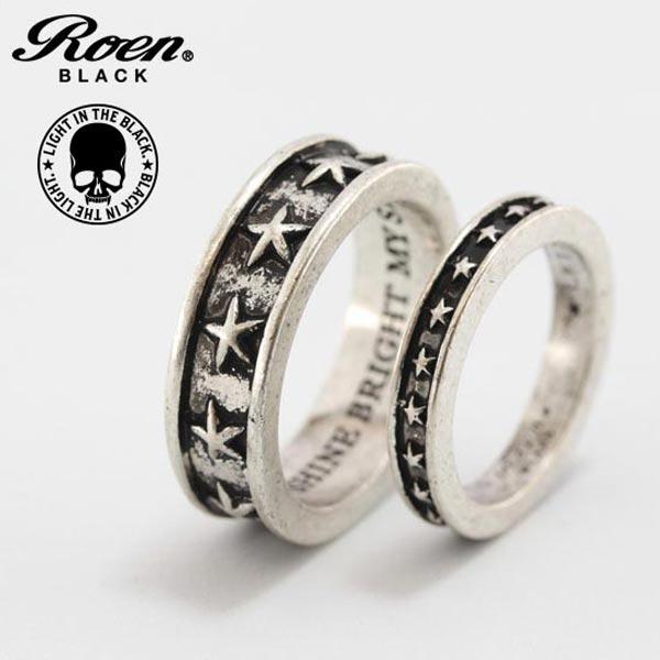 Roen BLACK リング 指輪 スター ロエン ブラック ペアリング STAR 星 シルバー RO-651 RO-652 メンズ レディース ユニセックス アクセサリー ジュエリー ブランド アクセ