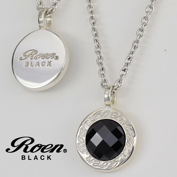 Roen BLACK ネックレス スカル ロエン ブラック ペンダント シルバー×キュービックジルコニア ラウンド ネックレス チェーンネックレス RO-006 シルバー925 メンズ レディース アクセサリー ジュエリー ブランド アクセ