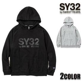 【300円OFFクーポン10月29日09:59迄】SY32 by SWEET YEARS パーカー REFLECTOR PRINT HOODIE ボックスロゴフーディー 10806 トップス アウター SWEET YEARS sy32 スウェット