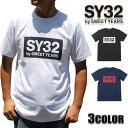 SY32 by SWEET YEARS Tシャツ メンズ エスワイサーティトゥバイスィートイヤーズ 半袖Tシャツ TNS1708 ブラック ホワ…