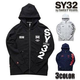 SY32 by SWEET YEARS パーカー メンズ パーカー エスワイサーティトゥバイスィートイヤーズ シールドロゴフーディー TNS1712トップス アウター SWEET YEARS エスワイ32