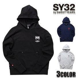 SY32 by SWEET YEARS パーカー メンズ パーカー エスワイサーティトゥバイスィートイヤーズ シールドロゴフーディー TNS1713トップス アウター SWEET YEARS エスワイ32