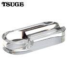 ガラス製の葉巻用灰皿イースターシガー灰皿クリスタルオーバルミラー(1本用)
