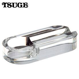 葉巻用 灰皿 イースター クリスタル オーバルミラー 葉巻1本用 ガラス製 シガー灰皿 80430