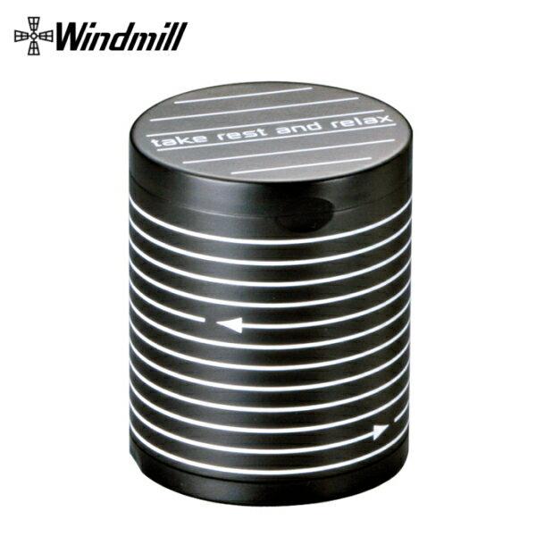 卓上灰皿 ハニカム筒型 ボーダー 595-1000 ウインドミル アッシュトレイ フタ付き 卓上 灰皿