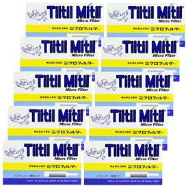 チルチルミチル ミクロフィルター 10本入×10個 ビタミンC・酵素配合 ミニパイプ ヤニ取り パイプ