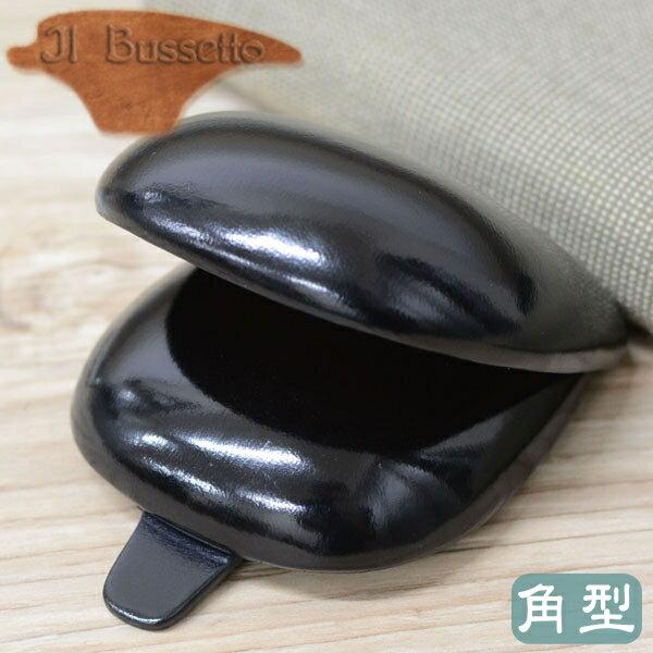 IL Bussetto イル・ブセット 01-004 コインケース 角型 ブラック スクエアタイプ 革製 小銭入れ イルブセット