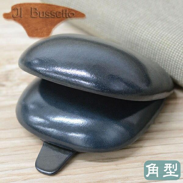 IL Bussetto イル・ブセット 01-004 コインケース 角型 グレー スクエアタイプ 革製小銭入れ イルブセット