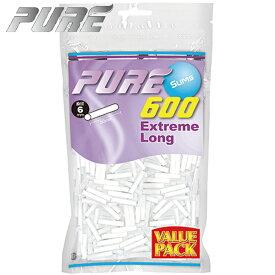 手巻きタバコ フィルター PURE ピュア スリム エクストリーム ロング 600個入 バリューパック 直径6mm 長さ30mm 手巻きたばこ用フィルター 再入荷