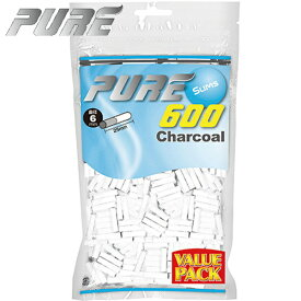 【送料無料】 手巻きタバコ フィルター PURE ピュア スリム チャコール 600個入 バリューパック 直径6mm 長さ25mm 手巻きたばこ用フィルター