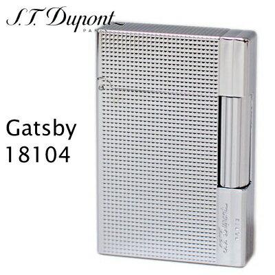 デュポン ギャツビー ライター 18104 ダイヤモンド・ヘッド クローム装飾 フリントガスライター