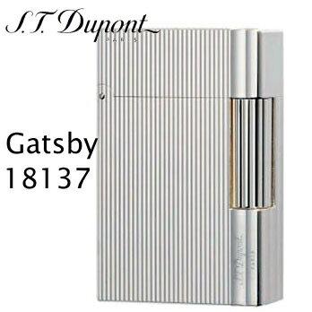 エス・テー・デュポン ギャツビー ライター 18137 ヴァーティカルライン シルバー装飾 ギャッツビー フリントガスライター