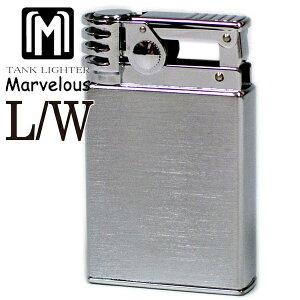 Marvelous マーベラス オイルライター L/Wタイプ クロームサテン 風防付き 東京パイプ ライター