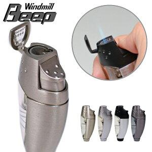 ビープ3 ターボライター 全4色 BE3 ウインドミル ガス注入式 バーナーフレーム ライター