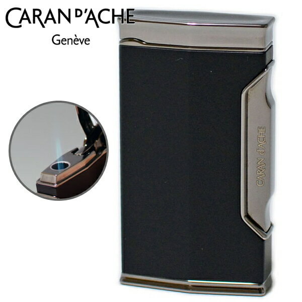 カランダッシュ ターボライター CD01-1101 黒ニッケル/マットブラック キャップ付きライター