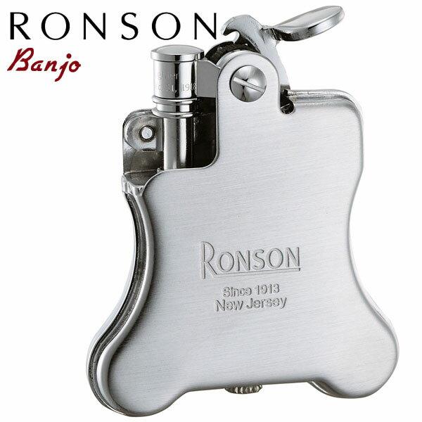 RONSON Banjo ロンソン バンジョー R01-0025 クロームサテン オイルライター【NEW】
