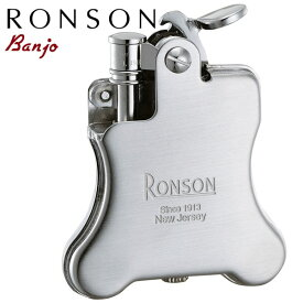 RONSON Banjo ロンソン バンジョー R01-0025 クロームサテン オイルライター【NEW】【店長オススメ】