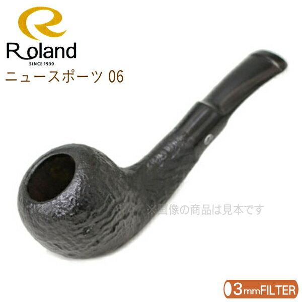 Roland ローランドパイプ ブラック ニュースポーツ 06 【3mmフィルター対応】 アルミフィルター付き