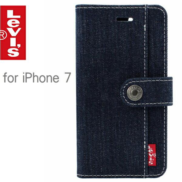 Levi's リーバイス iPhoneケース for iPhone7 ブックタイプケース ベルト付きタイプ LEVI-iP7-belt