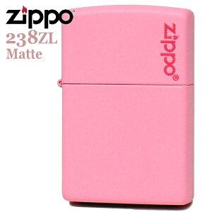 ZIPPO ジッポー 238ZL Matte ピンクマット ZIPPOロゴ入り かわいいZIPPOライターメンズ ギフト
