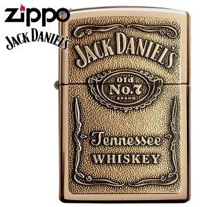 ZIPPO ジッポー ライター 254BJD428 JACK DANIEL'S ジャックダニエル ブラスエンブレム ブランド オイルライター 大人ZIPPO【誕生日】【記念日】