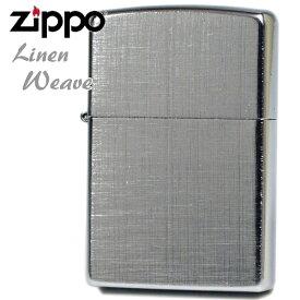 ZIPPO ジッポー 28181 Linen Weave リネンウィーブ 両面 クロームブラッシュデザイン ジッポーライター オイルライター