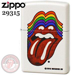 ZIPPO ジッポー 29315 ROLLING STONES ローリングストーンズ リップス ホワイトマット ロックなZIPPOライター【誕生日】【記念日】【ギフト】