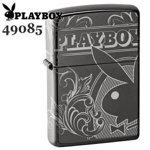 ZIPPO ジッポー 49085 PLAYBOY プレイボーイ ブラックアイス 4面加工 バニーガール ZIPPOライター ブランド メンズ ギフト