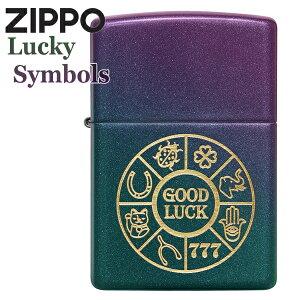 ZIPPO ジッポー 49399 Lucky Symbols 幸運のアイテム イリディセント 玉虫色 レインボー ZIPPOライター ブランド メンズ ギフト