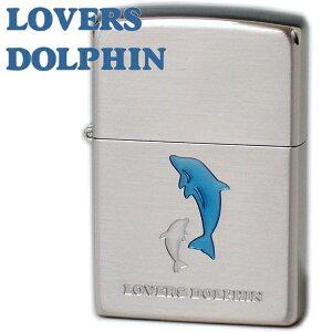 ZIPPO ジッポー ラバーズドルフィン ブルー イルカ 63400298 かわいいZIPPOライターメンズ ギフト