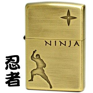 ZIPPO ライター ニンジャ BS ブラス古美仕上げ 1201S718 忍者 手裏剣 NINJA ジッポライター ブランド オイルライター メンズ ギフト