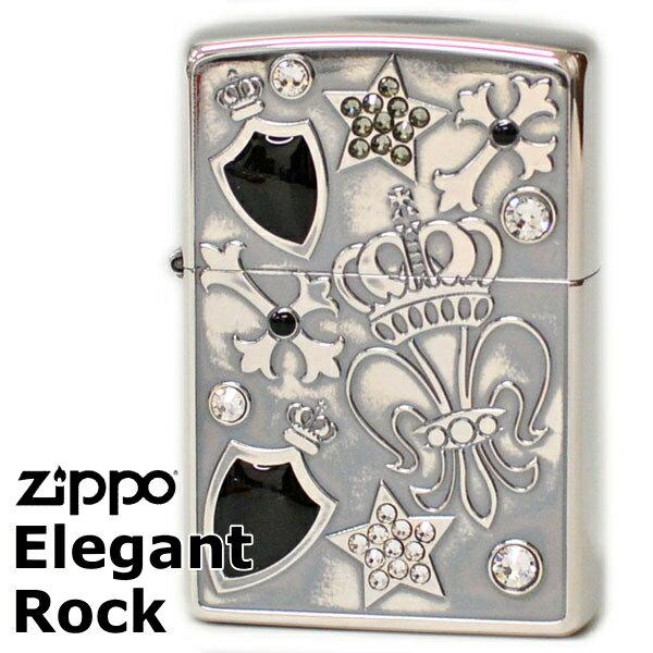 ZIPPO EGR-A エレガントロックジッポー ユリ柄 シルバーイブシ 【再入荷】
