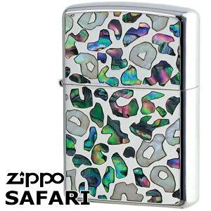 ZIPPO ジッポー SFR-LA サファリ シェル グリーン レオパード ニッケルパラジュウム 華やか 美しいジッポーライター ジッポーオイルライター zippo メンズ ギフト