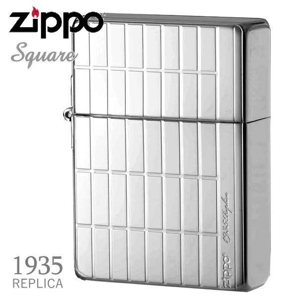ZIPPO ジッポー 1935SQ-PP 1935レプリカ スクエア プラチナメッキ 両面加工 美しいZIPPOライター【誕生日】【記念日】【卒業祝い】【就職祝い】【ギフト】
