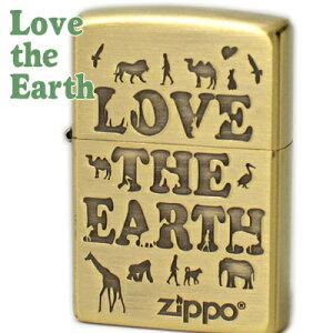 ZIPPO ジッポー 2LE-BB アニマルシリーズ LOVE THE EARTH ブラス古美 かわいい ZIPPOライター 誕生日 記念日 父の日 ギフト【ポイントアップ10倍】