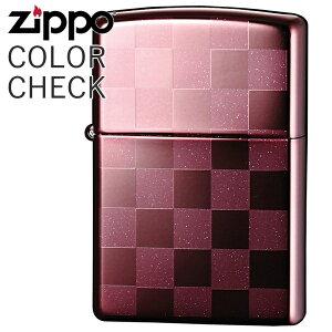ZIPPO ジッポー 25CK-ROSE カラーチェック ローズ ラメ入り チェック柄 市松模様 ZIPPOライター オイルライター