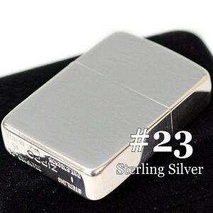 ZIPPO ライター ジッポー スターリングシルバー 23 純銀 1941レプリカ ポリッシュ 独特な輝きの 純銀ZIPPO 23番 名入れ可 ジッポ オイルライター