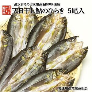 鮎のひらき 5尾入 鮎の天日干し 鮎 干物 ひもの [冷蔵/冷凍]