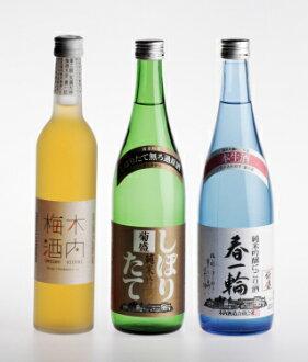 Plum in Japan with fresh 菊盛 new 3-piece set