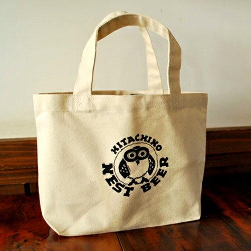 【常陸野ネストビール】オリジナルエコトートバッグS/エコバッグ