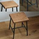 スツール 木製 アイアン 角 日本製 ロースツール 北欧 おしゃれ アンティーク サイドテーブル / 鉄とオーク材Sサイズ…