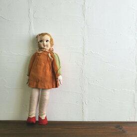 カーリーヘアーの足太人形 /アンティーク レトロ雑貨 人形 ドール サクラビスク 文化人形 大正ロマン モダン 日本人形 昭和レトロ