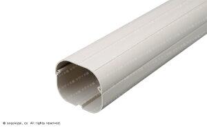 エアコン配管カバー/クイックダクト/選べる各色/2分×4分管収納に/ストレート(1000mm)