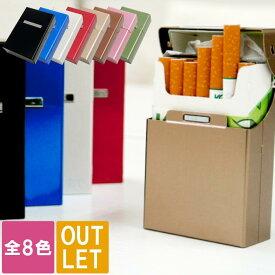 タバコケース アルミ アウトレット 【 アルミ シガレットケース 名入れなし 】 訳あり 在庫処分 在庫一掃 在庫 処分 喫煙具 メンズ レディース ボックス ソフト シガレット 煙草 タバコ ケース 周年 記念品 お返し 1個から Present Gift Alumi Cigarette Case Outlet
