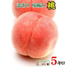 8月上旬発送 桃 訳あり 減農薬 長野県産 5キロ レビューを書いたら200円クーポン