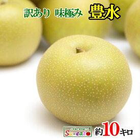 豊水 訳あり 梨 減農薬 長野県産 10キロ レビューを書いたら200円クーポン